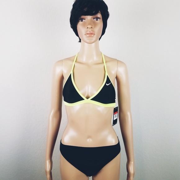 new concept hot sale large discount Nike triangle T strap bikini top XS NWT